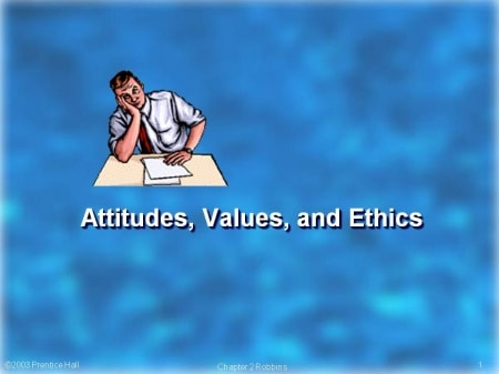 Creating a positive work  environment: Attitudes, Values, Ethics