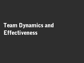 Online quiz Team Dynamics and Effectiveness