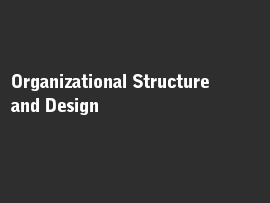 Online quiz Organizational Structure and Design