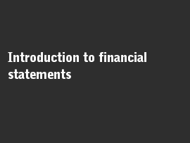Online quiz Introduction to financial statements