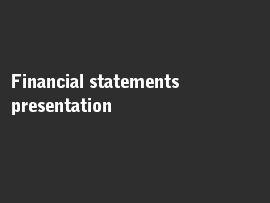 Online quiz Financial statements presentation