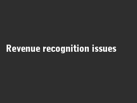 Online quiz Revenue recognition issues