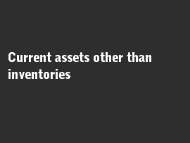 Online quiz Current assets other than inventories