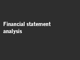 Online quiz Financial statement analysis