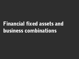 Online quiz Financial fixed assets and business combinations