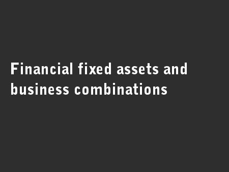 Financial fixed assets and business combinations