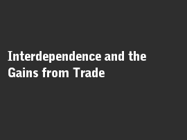 Online quiz Interdependence and the Gains from Trade