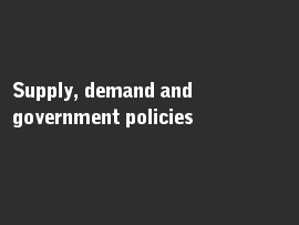 Online quiz Supply, demand and government policies