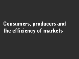 Online quiz Consumers, producers and the efficiency of markets