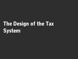 Online quiz The Design of the Tax System