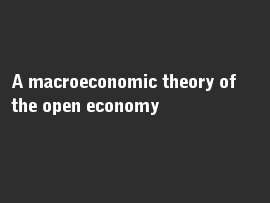 Online quiz A macroeconomic theory of the open economy