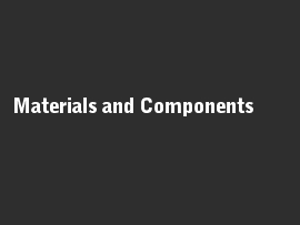 Online quiz Materials and Components