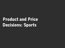 Online quiz Product and Price Decisions: Sports