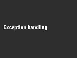 Online quiz Exception handling