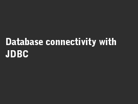 Online quiz Database connectivity with JDBC