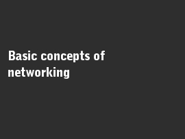 Online quiz Basic concepts of networking