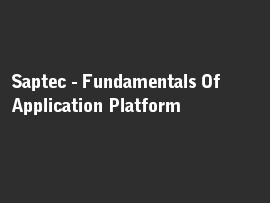 Online quiz Saptec - Fundamentals Of Application Platform