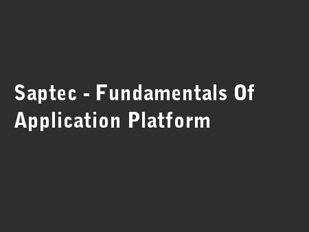 Saptec - Fundamentals Of Application Platform