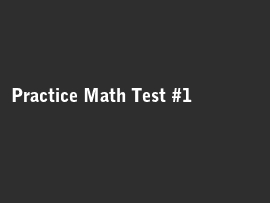 Online quiz Practice Math Test #1