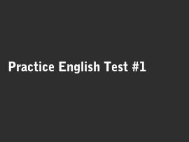 Online quiz Practice English Test #1