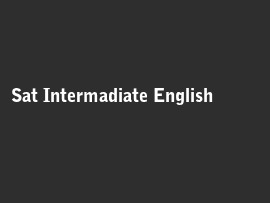 Online quiz Sat Intermadiate English