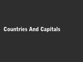 Online quiz Countries And Capitals